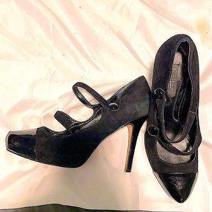 White House Black Market Stiletto heels w/2 straps